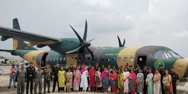 The 15 mid level Indian Army officers along with their spouses who visited Bangladesh from July 6 to July 12, 2019. Image credit - Northeast Now