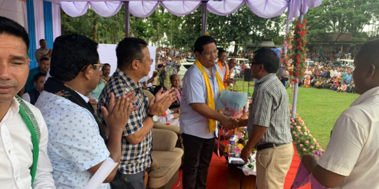Conrad Sangma being felicitated for fighting NGT ban against coal mining. Image credit: Twitter
