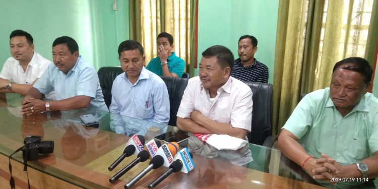 CEM, KAAC, Tuliram Ronghang speaking at a press conference in Guwahati. Image credit - Northeast Now
