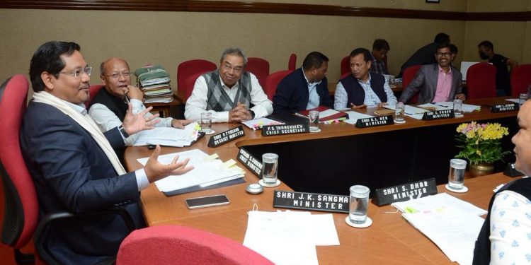 Conrad K. Sangma chairs the state cabinet meeting where the State Water Policy was approved. Image credit - Twitter @SangmaConrad