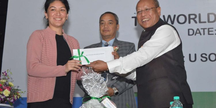 A moment of the World Youth Skills Day function organised in Shillong on Monday. Image credit - Northeast Now