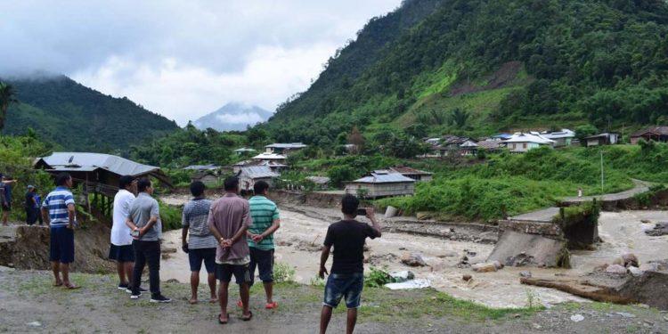 A view of rain-hit East Kameng district of Arunachal Pradesh. Image credit - Northeast Now