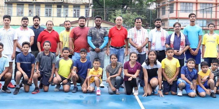 The participants of the summer coaching camp along with the organisers and guests. Image credit - Northeast Now