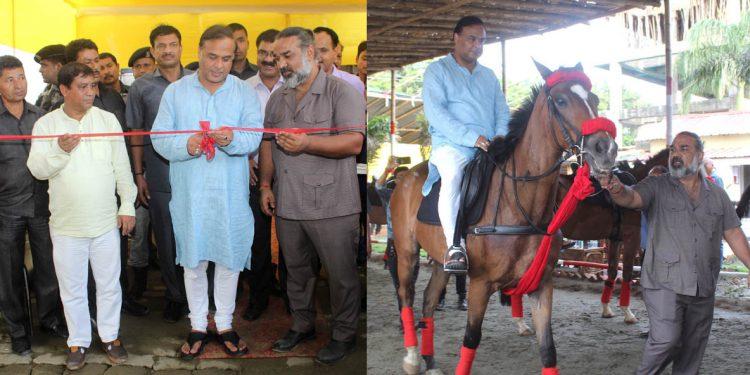 Himanta on horse