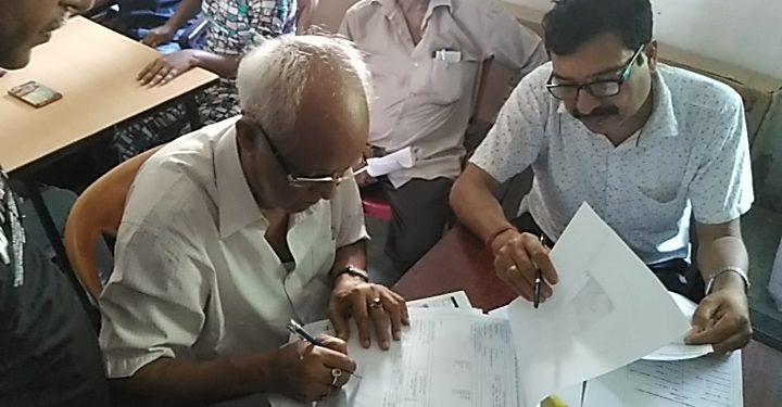 Sunirmal Bagchi at the NRC Seva Kendra.