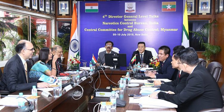 4th DG level talks between India's NCB and CCDAC, Myanmar. Image credit - Northeast Now