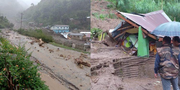 Landslides at Nag-Mandir area near Bhalukpong in Arunachal Pradesh's West Kameng district. Image credit - Northeast Now