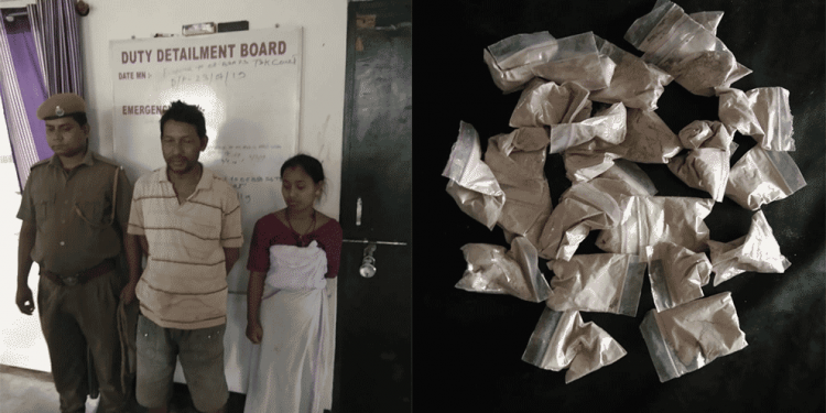 Assam: 2 drugs smugglers arrested at Bordumsa with brown sugar 1