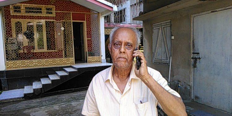 Sunirmal Bagchi at his Silchar residence. Image credit - Northeast Now