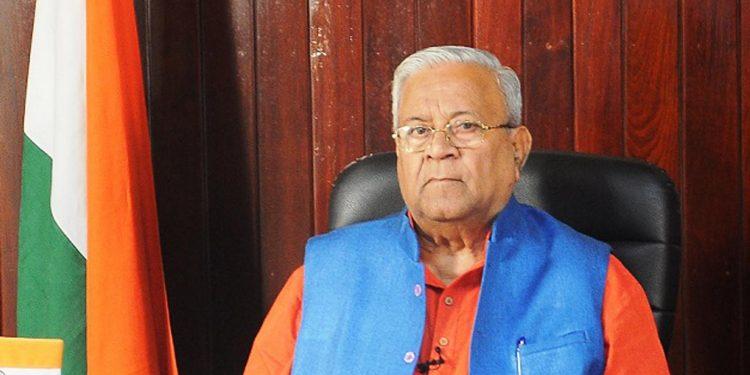 Nagaland governor P.B. Acharya. File image credit - Northeast Now