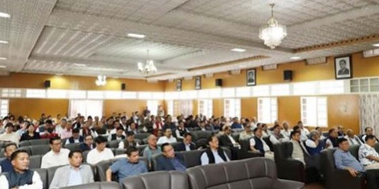 Participants at the consultative meeting on RIIN in Kohima. (File image)