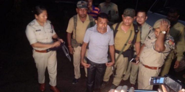Tantrik Ramesh Sahariah after his arrest at Kuruwa in Darrang district on Monday night. Image credit - Northeast Now