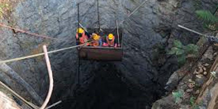 Northeast Now file image of search operation for trapped miners in East Jaintia Hills.