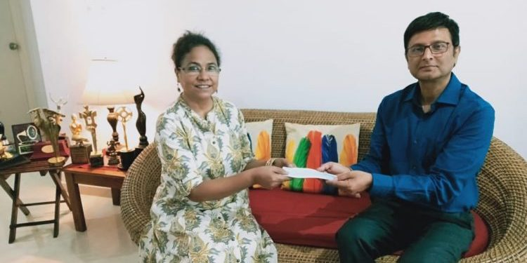 Actor Seema Biswas contributed Rs 5 Lakh to Assam Chief Minister's Relief fund on Saturday.