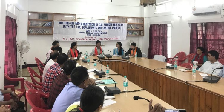 A view of the meeting on Jal Shakti Abhiyan at Haflong on Monday. Image credit - Northeast Now