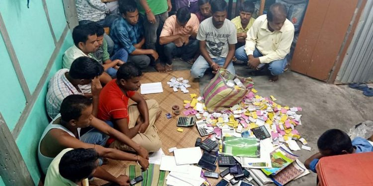 The teer gamblers nabbed by Dhubri police on Tuesday. Image credit - Northeast Now