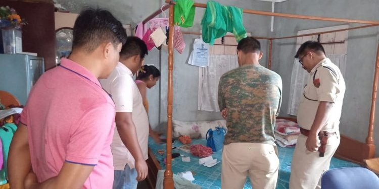 A police official is investigating into the incident of theft in a house at Gwjwnpuri in Kokrajhar town. Image credit - Northeast Now
