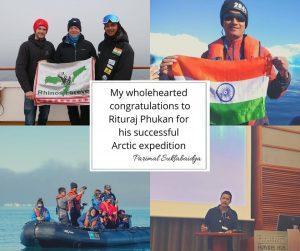 Assam environmentalist Rituraj Phukan completes Arctic expedition 1