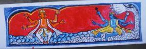 Assam: Jorhat artist depicts Shankari art on 100 feet ATM roll to inspire youths 3