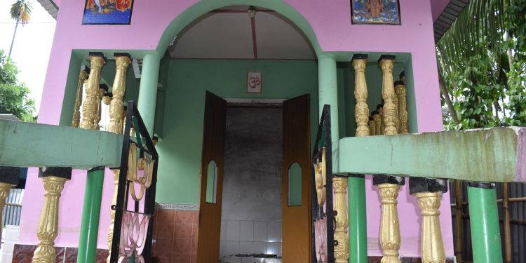 The temple where the family members performed ritual at Ganakpara village under Kalaigaon PS in Udalguri on Sunday. Image: Northeast Now