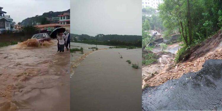 Views of rain-hit Meghalaya. Image credit - Northeast Now