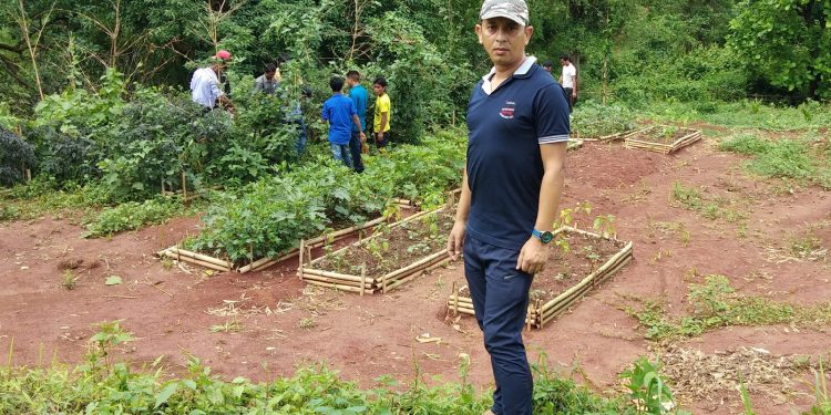 Samir Bordoloi, man behind Intaya Public School's food forest. Image credit: Facebook