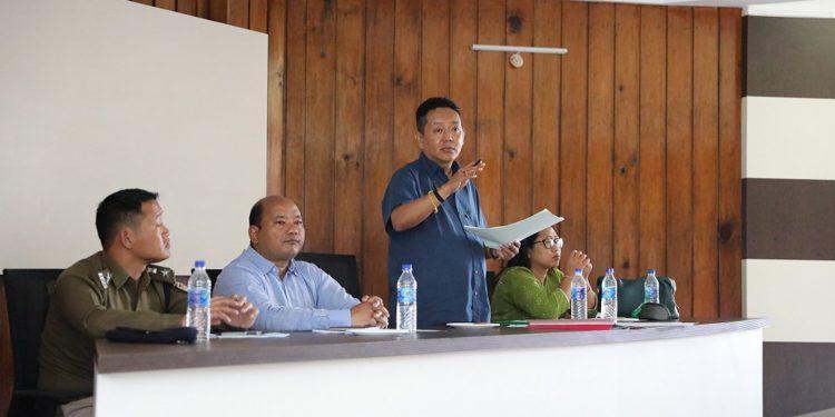 Arunachal Speaker Pasang Dorjee Sona interacting with GBs. Image: Northeast Today
