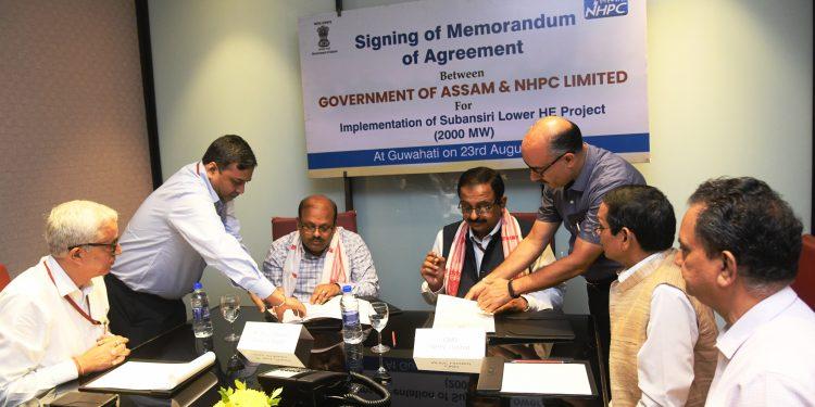 Niraj Verma, principal secretary (Power), signed the MoA on behalf of state government and Balraj Joshi, CMD, NHPC signed on behalf of NHPC.