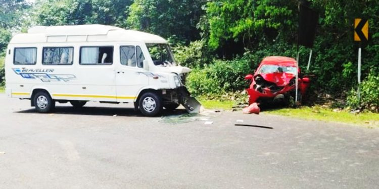 A file image of a road accident in Assam