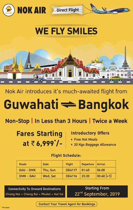 Nok Air to introduce direct Guwahati-Bangkok flights from Sept 22 1