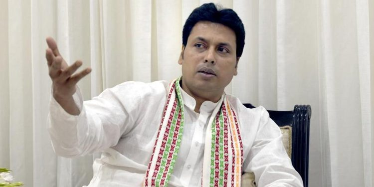 File image of Tripura CM Biplab Kumar Deb