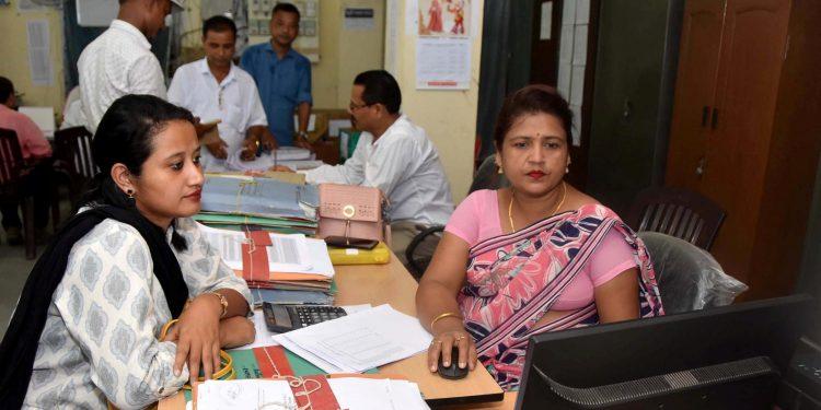 NRC officials working at an NRC Seva Kendra in Tezpur. (File image)