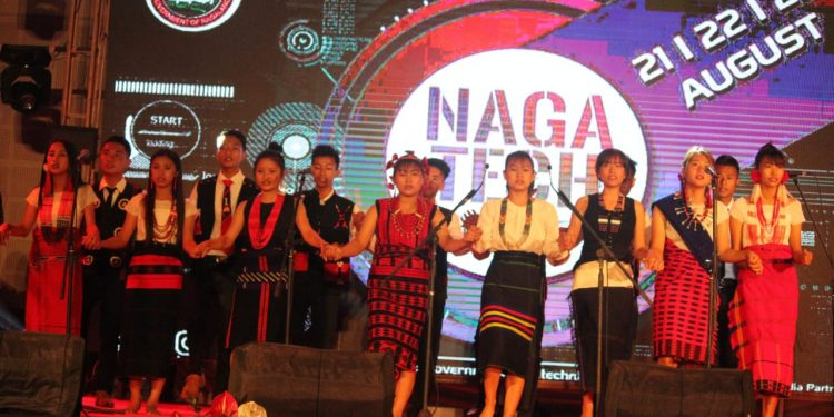 Cultural programme during the inaugural ceremony of Naga Tech