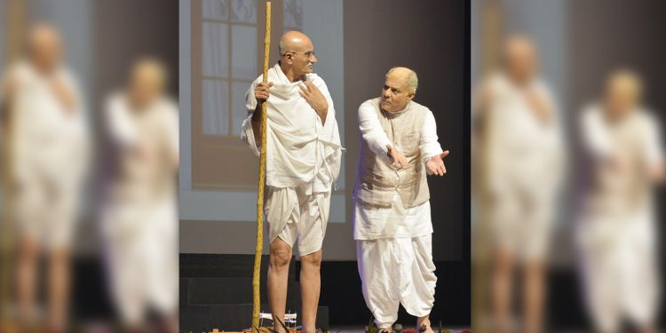 A scene from the play on Sardar Vallabh Bhai Patel. Image: Northeast Now