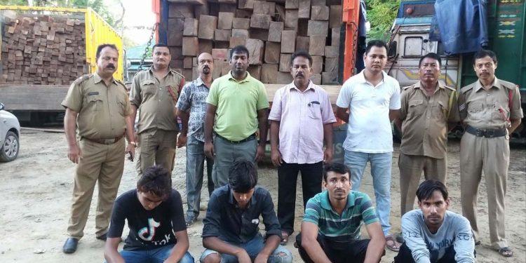 illegal teak wood