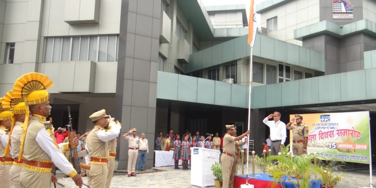 NHPC NHPC executive director Arvind Bhat hoisting the Tricolour. Image: Northeast Now