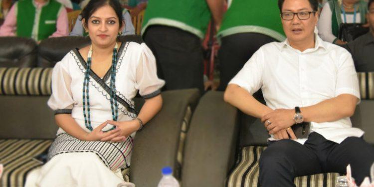 West Siang DC Swetika Sachan with Kiren Rijiju (File image)