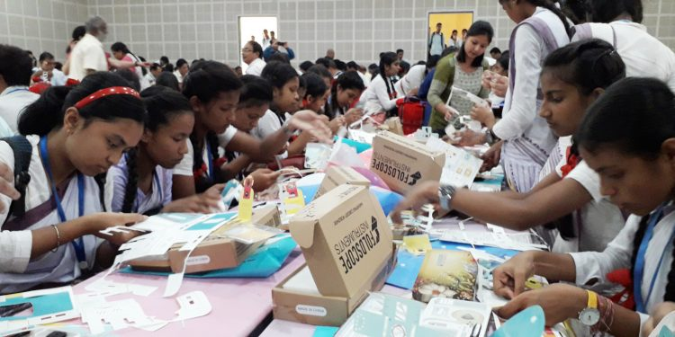 Students from various schools taking part in the technical session during the daylong workshop. Image: Northeast Now