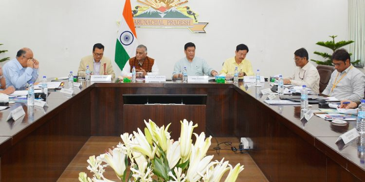 Union minister of state for road, transport & highways at the review meeting in Itanagar on Thursday.