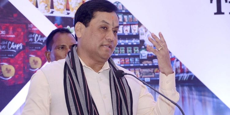 Assam CM Sarbananda Sonowal  speaking at  North East Regional Conference on Transformation of Indian Agriculture. Image credit: UB Photos