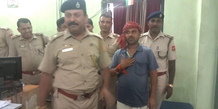 Fugitive Tripura University professor in police custody. Image: Northeast Now