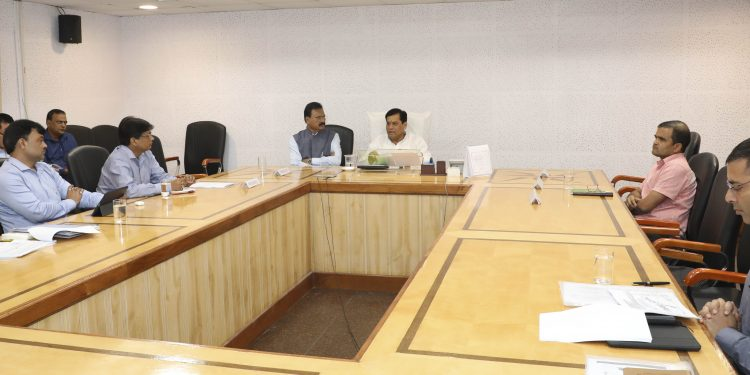 Assam CM Sarbananda Sonowal reviewing the functioning of ASDM. Image: Northeast Now