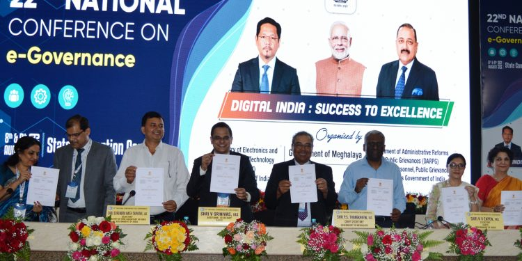 Delegates releasing The Shillong declaration. Image: Northeast Now