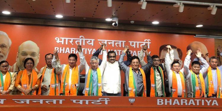 Joining of SDF legislators to BJP. Image credit: The Hindu