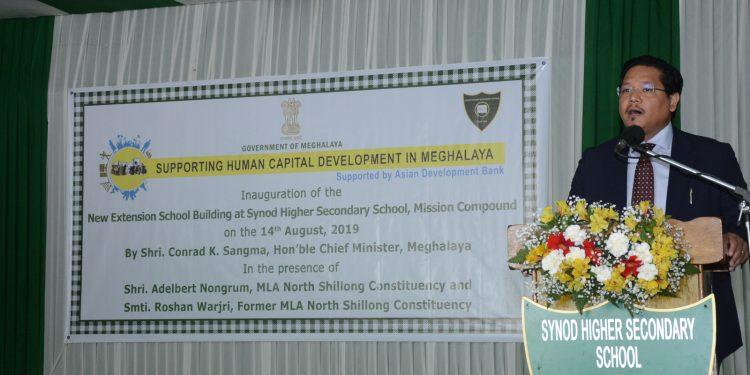 Meghalaya CM Conrad Sangma addressing the gathering