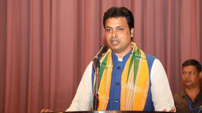 Tripura CM Biplab Kumar Deb (File image)