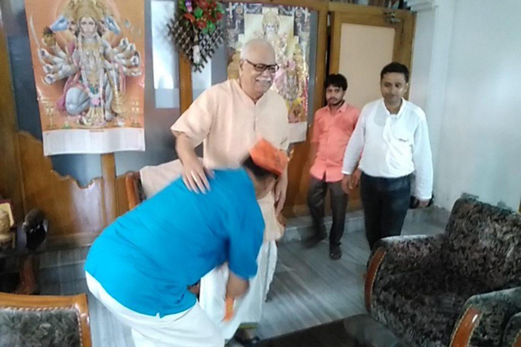 Assam: Warm welcome to saffron-clad Gautam Roy at Silchar  1