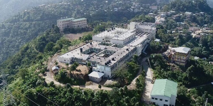 Aerial view of Zoram Medical College, earlier named as Mizoram Institute of Medical education and Research (MIMER)