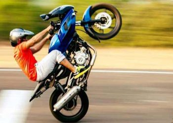 Stunts by speedy motor-bikers make lives risky for people in Barsapara 1
