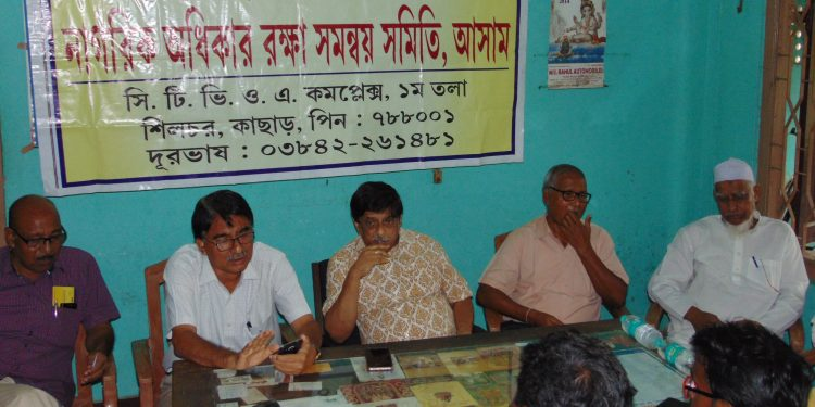 CRPCC members discuss on final NRC list published on Saturday. Image: Northeast Now
